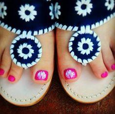 Cute Monogrammed toes