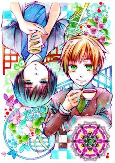 【ヘタリア】お茶と紅茶【島国】