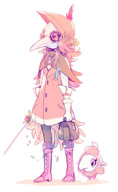Pokemon Gijinka... Plague Doctor style. #Swag
