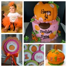 Our little pumpkin first birthday. -for Lo
