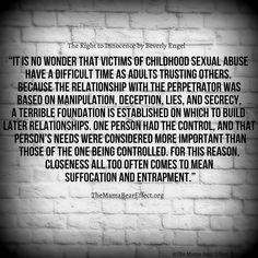 Trust after abuse.