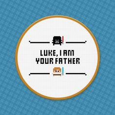 hoopLuke, I am your father - Cross Stitch Pattern - Free Download