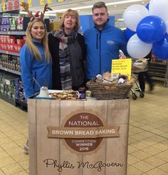 With the woman of the hour Phyllis McGovern at Aldi Ashe Road celebrating the launch of her soda bread in all Aldi stores! #AldiEverydayAmazing #Wlrfm #waterford #aldi