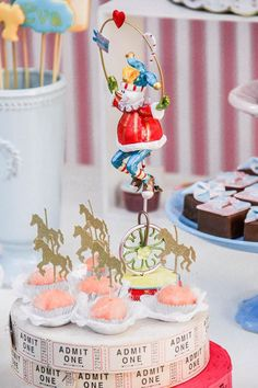 Vintage Chic Carousel Birthday Party at Kara's Party Ideas. See more at karaspartyideas.com!