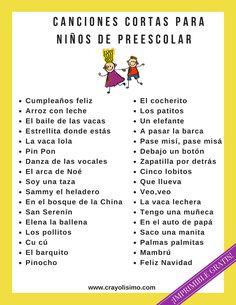 ¿Quieres que tus niños aprendan canciones en español rápidamente? Explora esta lista de canciones cortas para niños de preescolar. ¡Puedes imprimirla gratis!