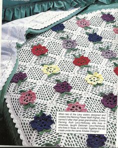 Fleming Flower Afghan Crochet Pattern Vintage by PatternMania3