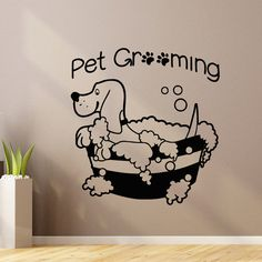 Pet Wall Decal Pet Grooming Salon Decals Vinyl by WisdomDecals