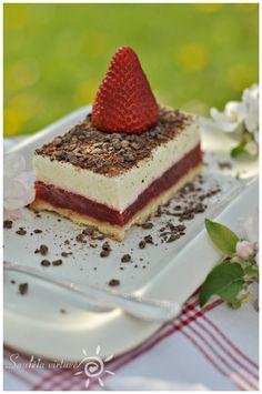 Vanilinis varškės tortas su braškėmis | Saulėta virtuvė