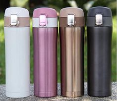 Sommet mousqueton clip sur acier inoxydable camping randonnée voyage café tasse