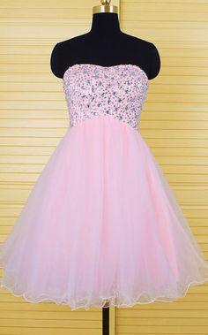 Pink Homecoming Dresses,Cute Homecoming Dresses,Short prom dress
