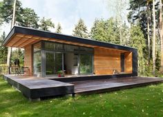 Tiny House Cabin, Tiny House Living, Tiny House Plans, Living Room, Small House Design, Modern House Design, Modern Wooden House, Cottage Design, Building A Wooden House