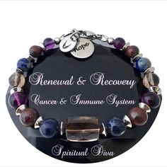 Cancer Immune System Recovery Healing Crystal Reiki Angel Bracelet
