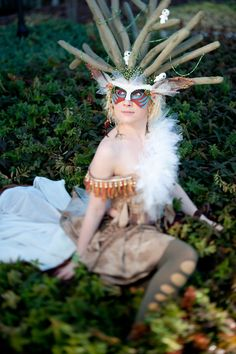 Amazing Forest Spirit from Princess Mononoke cosplay. I'm having fits over how brilliant she is.