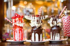 The freakshake trend shows no signs of slowing down, probably due in part to the massive sugar rush from slurping these monster milkshakes