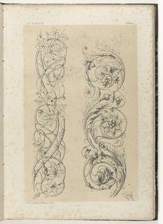 Twee motieven van bladranken, Michel Liénard, Charles Claesen, 1866