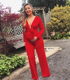 @gina.gado | Happy Easter everyone  Here I am wearing the Zena jumpsuit I have just altered it at the front to fit over my bump.