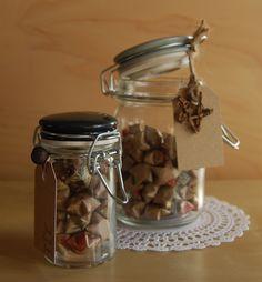 My vintage paper wishing stars...in jars