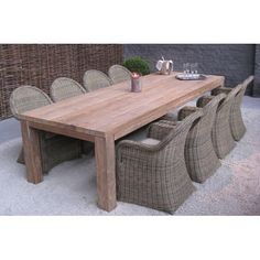 Azur Primitive Tafel Recycled Teak blad in Recycled Teak 300 Small Furniture, Living Furniture, Outdoor Furniture Sets, Diy Table, Wood Table, Dining Table, Outdoor Dining, Outdoor Tables, Outdoor Decor