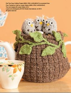 Owl Tea Cosy Knitting Pattern Download by StitchCraftCreate