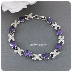 Bridesmaid Bracelet, Bridal Bracelet, Bridesmaid Gifts, Bridesmaids, Wedding Jewelry, Gift Wedding, Amethyst Jewelry, Crystal Bracelets, Party Gifts