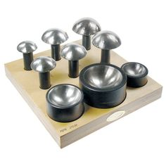 9 Piece Set Highly polished Hardened up to 50 HRC Made of high quality tool steel Used for forming large spherical shapes Jewelry Tools, Metal Jewelry, Fabrication Tools, Metal Shaping, Tools Hardware, Tool Steel, Blacksmithing, Retro, Dog Bowls