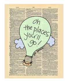This 'Oh the Places' Dictionary Print by Doodli-Do's is perfect! #zulilyfinds