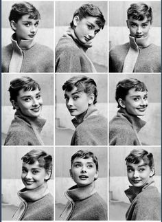 "Audrey Hepburn photographed by Mark Shaw during the filming of "" Sabrina "" 1953"