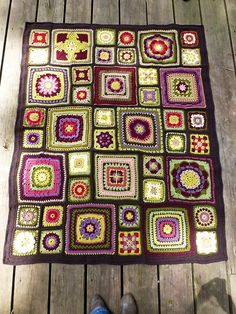Stained Glass Garden Crochet Afghan   Flickr - Photo Sharing!