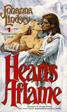 book cover of     Hearts Aflame      (Viking Haardrad Family, book 2)    by    Johanna Lindsey