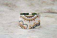 Ethnic floral textile bracelet / cuff  with embroidery by Mioltu, €43.00