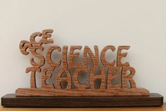 Ace Science Teacher Desk Sign Cut On Scroll Saw by DukesScrollSaw, $7.00