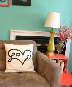 WIN! The Funky Monkey Giveaway: Love Print Pillow Cover - Ends 3/3/13