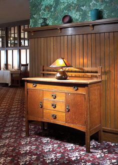 'Grove Park Inn Arts & Crafts Furniture' by Bruce E. Johnson -- Stickley Sideboard