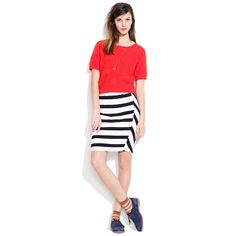 Picket-Stripe Skirt