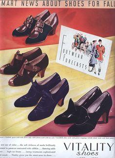 Vitality Shoes ad, 1937.