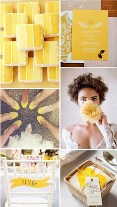 FreesiaYellow wedding color inspiration from Lucky in Love Wedding Planning Blog - Seattle Weddings at Banquetevent.com #freesia #yellow #weddingplanning