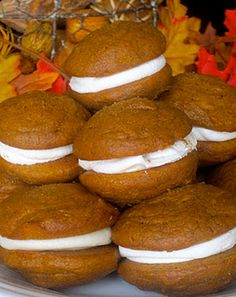 Pumpkin Whoopie Pies - looks like a great fall recipe!