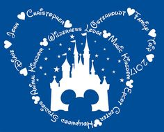 Personalized Matching Disney / Disneyland / Disney World Family Vacation Shirts for Adults - Mickey Mouse / Castle