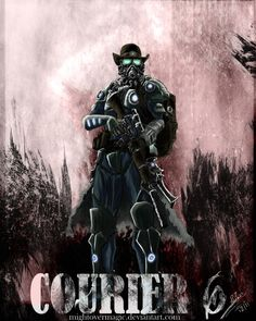 fallout art   My Fallout:NV - Courier final Art by ~MightoverMagic on deviantART