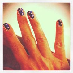 A great, semi-abstract nail design for the 4th of July and other national holidays