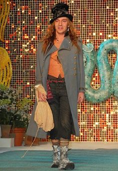 John Galliano at the Christian Dior cruise collection 2008 in New York.