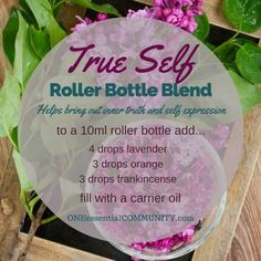 """true self"" roller bottle blend helps bring out your inner truth and self�"