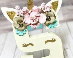 Unicorn initial Letters™ - Unicorn Birthday - Unicorn Decorations - unicorn room decorations - unicorn Birthday Decor - unicorn prop
