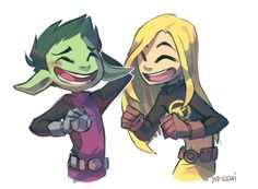 Beast Boy and Terra, its great art but can we have some more BBRae?