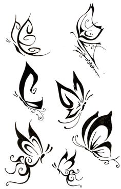 Butterfly tattoo ideas.