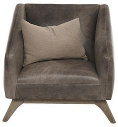 Anna Leather Chair, Gray on shopstyle.com