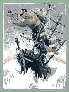 RichKelly2 #illustration #man #boat