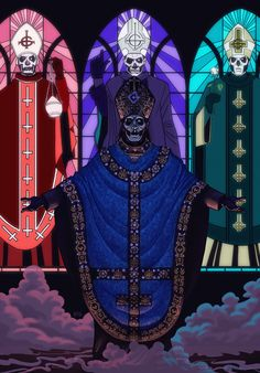 A forum dedicated to the Swedish occult rock band Ghost. Ghost Rock Band, Ghost Metal Band, Heavy Metal Bands, Rock Bands, Ghost Papa Emeritus, Tarot, Rock Poster, Ghost And Ghouls, Ghost Bc