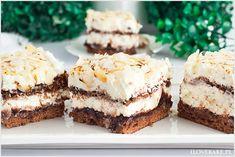 Ciasto babie lato na biszkopcie cynamonowym z kremem mascarpone, powidłami śliwkowymi i płatkami migdałowymi. Leciutkie, aromatyczne i kremowe ciasto z chrupiącymi migdałami. Fruit Recipes, Cheesecake Recipes, Sweet Recipes, Cookie Recipes, Dessert Recipes, Summer Cakes, Polish Recipes, Sweet Cakes, Homemade Cakes