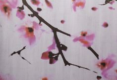 Elitis Wallpaper Pattern Paper, Red Flowers, Window Treatments, Murals, Print Patterns, Hair Accessories, Watercolor, Wallpaper, House